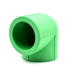PPR Plain elbow in Nigeria, green and white pipes
